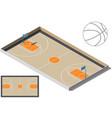 basketball court isometry ball vector image