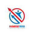 business trend logo design human character vector image