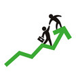 bussiness mens growing statistics vector image