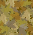 camouflage background maple vector image vector image