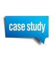Case study blue 3d realistic paper speech bubble