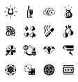 Casino Icons Black vector image vector image