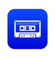 cassette tape icon digital blue vector image vector image