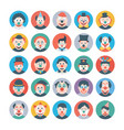 circus jokers flat icons vector image vector image