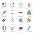 Color Internet Marketing Icons Vol 2 vector image