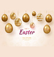 composition of easter eggs festive background on vector image vector image