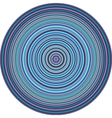 concentric pipes circular shape in multiple blue vector image