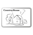 country house pictogram vector image