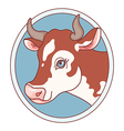 cow emblem vector image vector image