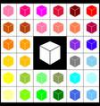 cube sign felt-pen 33 vector image vector image