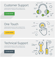 Customer Support One Touch Technical Support Line vector image