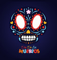 day dead sugar skull greeting card vector image vector image