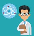 doctor medical care molecule atom vector image