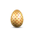 easter egg 3d icon gold egg isolated white vector image