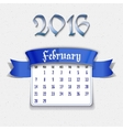 February 2016 calendar template vector image