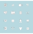 Finance exchange icons flat line vector image vector image