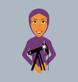 flat icon on theme arabic business muslim vector image vector image