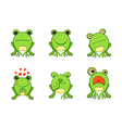 Frog mascot emoticons smiley face vector image