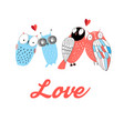 graphic owl lovers vector image vector image