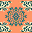 green and orange color mandala ornamentdecorative vector image vector image