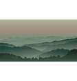 Green mountains in fog vector | Price: 1 Credit (USD $1)