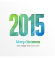 Happy New Year 2015 colorful greeting card vector image vector image