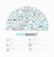 hypermarket concept in half circle vector image