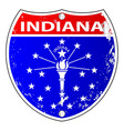 indiana flag icons as a interstate sign vector image