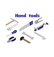 isometric image of hand tools vector image