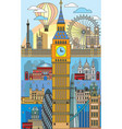 london colorful line art 10 vector image vector image