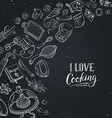 Love cooking card vector image