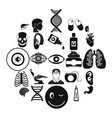 medical student icons set simple style vector image vector image