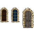 medieval windows and doors vector image vector image