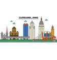 ohio clevelandcity skyline architecture vector image vector image
