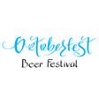 oktoberfest beer festival handwritten ornate vector image vector image