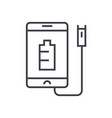 phone charging linear icon sign symbol vector image vector image