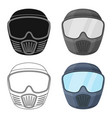 protective maskpaintball single icon in cartoon vector image vector image