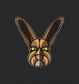 rabbit logo design template head icon vector image