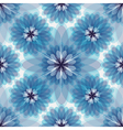 Repeating white-grey-blue floral pattern vector image vector image