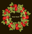 round frame for your text vector image vector image