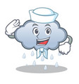 sailor rain cloud character cartoon vector image vector image