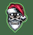 santa skull head mascot logo design vector image vector image