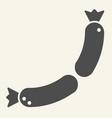 sausages solid icon frankfurter vector image vector image