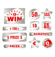 scratch card scratches with brush effect suitable vector image vector image
