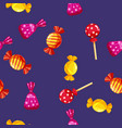 seamless pattern of colored chocolates in a pack vector image vector image