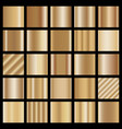 set of bronze gradients vector image vector image