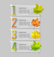 set of glass banners with autumn maple vector image vector image