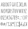 Simple hand drawn font vector | Price: 1 Credit (USD $1)