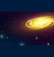 spiral galaxy in space milky way vector image