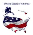 states america territory full waving flag vector image